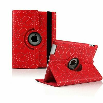 £2.49 • Buy Bling Diamond Leather Rotate Stand Case Folio Cover For Apple IPad Air 2 Red