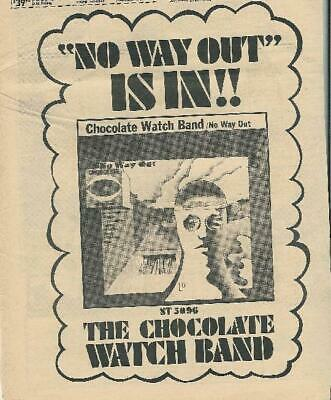 Chocolate Watch Band No Way Out 1967 Lp Promo Ad Psych Original • 19.02£