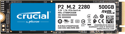 AU149 • Buy 500GB Crucial P2 SSD M.2 228 PCIe NVME NAND Internal Solid State Drive 2300MB/s