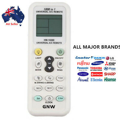 AU16.99 • Buy Universal A/C Air Conditioning Remote Control Air Con ALL MAJOR BRANDS LCD DGS