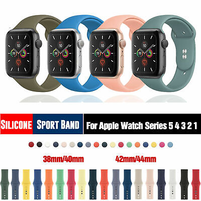 AU8.99 • Buy Sport Silicone Strap IWatch Band For Apple Watch Series 6 5 4 3 2 1 38 40 44mm