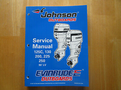 $18 • Buy Johnson Evinrude Outboards Service Manual 125C 130 200 225 250 90 LV P/N 520212