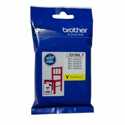 AU45.99 • Buy Genuine Brother LC3319XL Yellow Ink Cartridge For MFC-J5930DW MFC-J6935DW