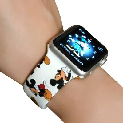 AU10.99 • Buy Mickey Mouse Soft Silicone Apple Watch Series 12 3 4 5 6 Band IWatch 38 42 40 44