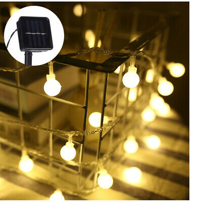 Solar Powered Edison Bulb String Lights Outdoor Fairy BBQ Party Wedding Decor UK • 9.82£