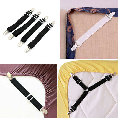 £4.83 • Buy 4x Bed Sheet Holders Elastic Mattress Fasteners Grippers Clips Suspenders Straps