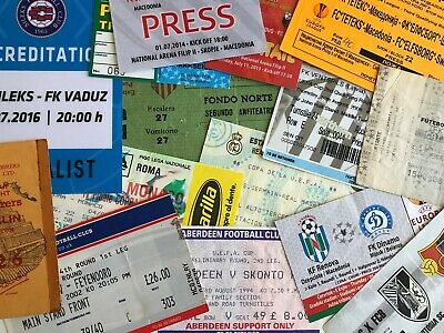 European UEFA Competition Tickets/Biglietti -Some Very Rare- Choose From List 2 • 5£