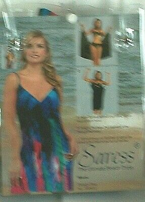 SARESS -Beach / Covering Dress In Blues / Multi Colours Size L 14-16.UK  • 7.99£