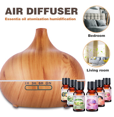 AU26.99 • Buy Aroma Aromatherapy Diffuser LED Essential Oil Ultrasonic Air Humidifier 550ml AU