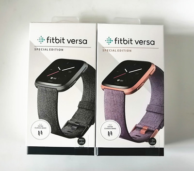 $ CDN120.98 • Buy Fitbit Versa Special Edition Smartwatch Fitness Activity Tracker Woven Band