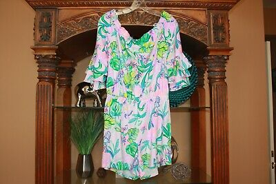 $96.99 • Buy NWT Lilly Pulitzer Calla Romper Amethyst Tint Mermaid In The  Shade Size M
