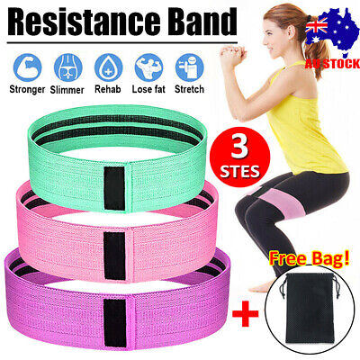 AU13.83 • Buy 11PCS Latex Yoga Strap Resistance Bands Exercise Home Gym Tube Fitness Elastic