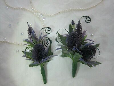 £3.60 • Buy Scottish Thistle Buttonholes Or Corsages Wedding Flowers Groom Best Man