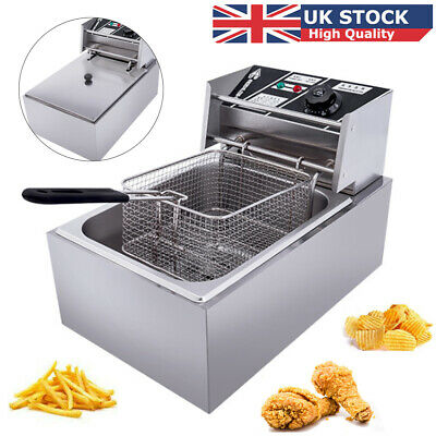 £37.98 • Buy 10L Electric Deep Fryer Commercial Countertop Fat Chip Stainless Steel Basket UK