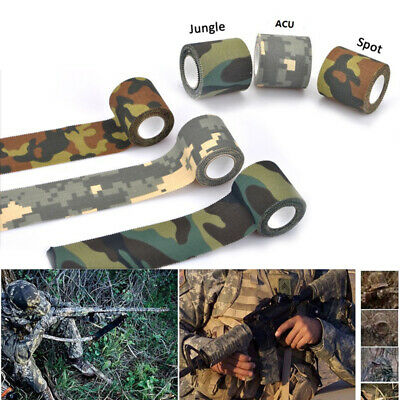 £5.99 • Buy Camo Tape Adhesive Camouflage Stealth Rifle Gun Wrap 5cm Width X 10m Long