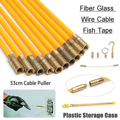 CABLE ACCESS KIT KITS ELECTRICIANS PUSH PULL PULLER ROD RODS WIRE WIRES 4mm NEW • 12.29£