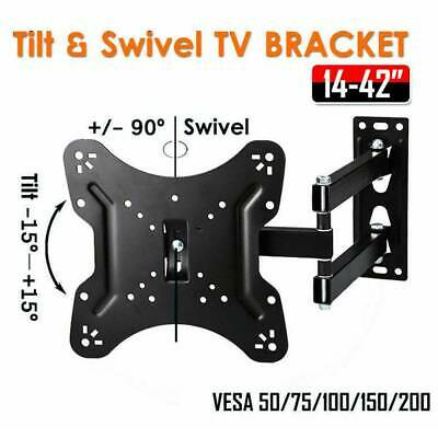 AU16.39 • Buy Tilt Swivel TV Wall Mount Bracket LCD LED Monitor 14,21,22,27,32,42 VESA 100 200