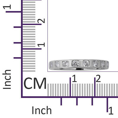 ELANZA Eternity Band Cubic Zirconia CZ Ring Sterling Silver, 1.08 Ct • 9.99£