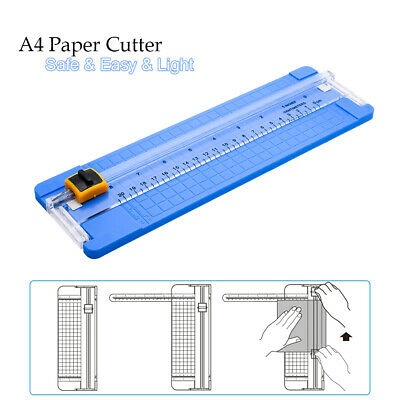 A4 Precision Rotary Guillotine Paper Photo Trimmer Cutter Ruler Craft Tool Light • 6.99£