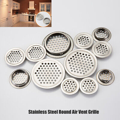 £4.69 • Buy Stainless Steel Round Air Vent Grille Wardrobe Cabinet Metal Ventilation Plugs