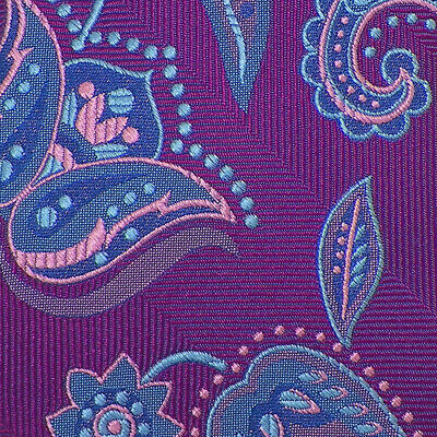 $59.99 • Buy TED BAKER LONDON Mens Fuschia Blue FLORAL PAISLEY Woven Silk Tie NWT