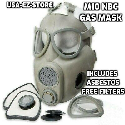 $39.73 • Buy 🔥Premium Gas Mask Czech Military M10 NBC Respirator Filters Full Face Coverage