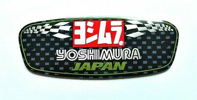 Yoshimura Japan 3d Heatproof Exhaust Badge Sticker Graphic Decal Silencer Metal • 4.95£