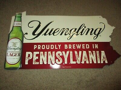 $28.99 • Buy YUENGLING Proudly Brew Pennsylvania METAL TACKER SIGN Craft Beer Brewery Brewing