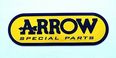 Arrow 3d Heatproof Exhaust Badge Sticker Graphic Decal Silencer Yellow Blue • 4.95£