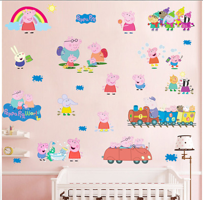 Kids Train Wall Stickers Nursery Wall Art Girls Boys Children Decals UK • 6.99£
