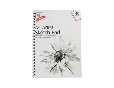 A4 Spiral Bound Artist Sketch Drawing Painting Books Pads 40 Sheets • 2.49£