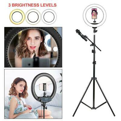 AU66.99 • Buy LED Ring Light 10'' With Stand Dimmable LED Lighting Kit Makeup Live Youtube