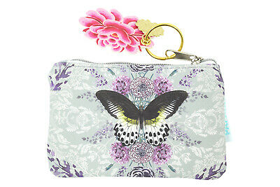 $12.75 • Buy Papaya Art Rare Species Butterfly And Flower Keychain Coin Purse