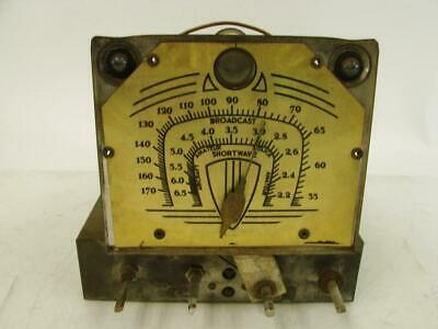 $ CDN96.74 • Buy 1930's Gold Dial AM/SW Radio Chassis Eye Tube Silvertone? Short Wave Broadcast