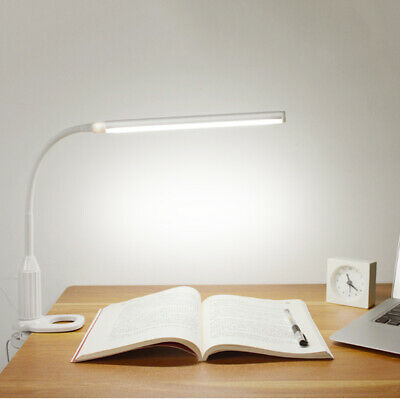 5W Flexible 24 LED Table Desk Lamp Touch Sensor Clamp Clip Light Dimmable USB • 8.88£