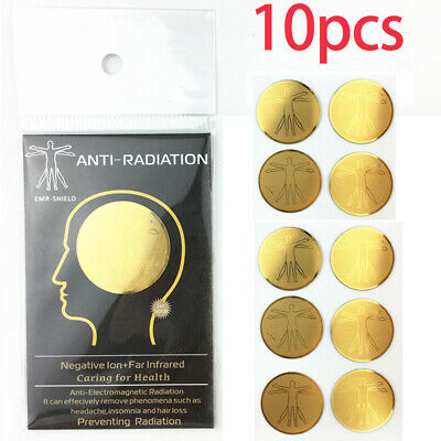10PCS Anti Radiation Protector Sticker For Mobile Phone Laptop Ions EMF Blocker • 8.64£