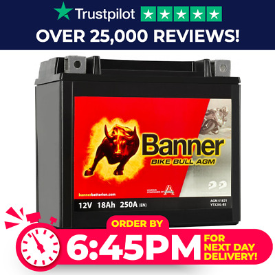 YTX20L-BS Compatible Banner Bike Bull AGM Battery (51821) • 69.99£