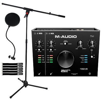 $222.40 • Buy M-Audio Air 192|8 USB MIDI Home Audio Recording Interface W Software & Mic Stand