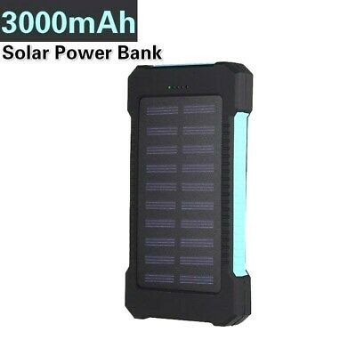 £22.30 • Buy Ultra Thin 30000mAh Solar Portable External Battery Charger Power Bank For Cell