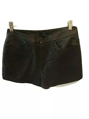 $4.99 • Buy  Black Faux Leather Shorts - Forever 21 - Size LARGE PRE-OWNED