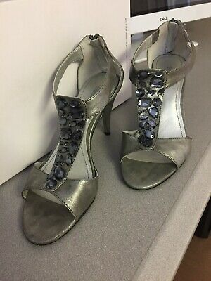 Style & Co Pewter Sandals Size 8 High Heels Shoes  • 7.08£