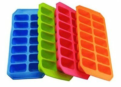 High Quality Soft Silicon Ice Cube Tray Ice Cream Compartment Container BPA Free • 3.49£