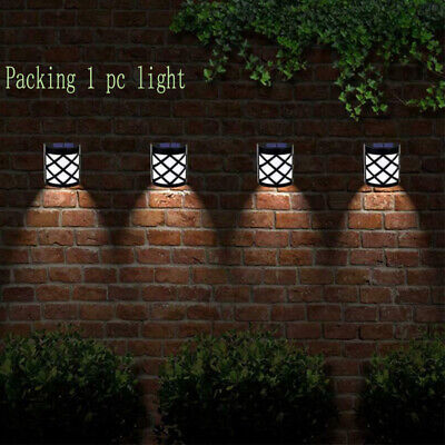 £7.54 • Buy Outdoor Solar Wall Lights Leds Door Garden Step Bright LED Fence Light Path Lamp