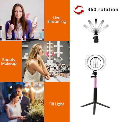 AU39.99 • Buy Dimmable Selfie 64 LED Ring Flash Light Stand Tripod Photo Studio Make Up Lamp