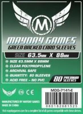 $4.39 • Buy Mayday Boardgame Sleeves Standard CCG Size Card Sleeves - Green (80) MINT
