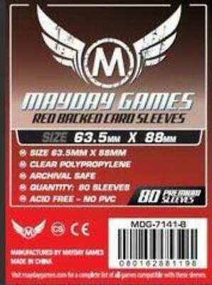 $5.49 • Buy Mayday Boardgame Sleeves Standard CCG Size Card Sleeves - Red (80) MINT