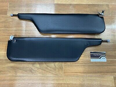 AU229 • Buy New Ford Falcon Fairmont Black Perforated Sunvisors Pivots Brackets XW XY GT GS