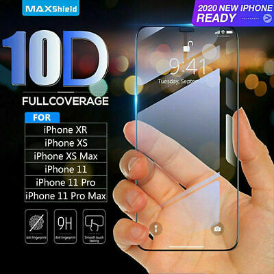 10D Tempered Glass Screen Protector For IPhone 11, 11 Pro Max IPhone XR X XS Max • 1.99£