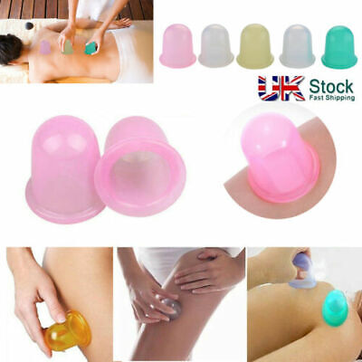 Cupping Cup Therapy Silicone Massage Vacuum Body Facial Anti Cellulite Ageing UK • 5.99£