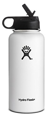 $31.59 • Buy Hydro Flask Wide Mouth Water Bottle, Straw Lid,32 OZ-White